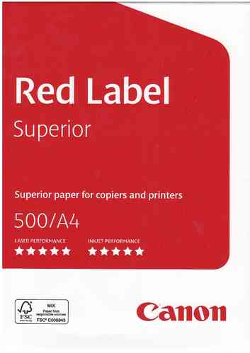 Canon Red Label A4 500 Blatt/Pack weiss 80g/m²