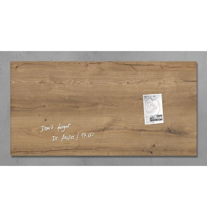 Sigel Glasmagnetboard artverrum 91x46cm Natural-Wood