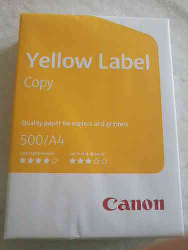 Canon Yellow Label Copy  A4 500 Blatt weiss 80g/m²