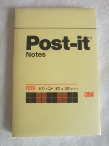 3M Post IT Haftnotiz A6  100 Blatt gelb